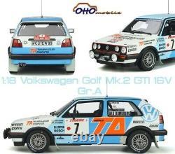 1/18 Otto Volkswagen Golf Mk. 2 Gti 16v Gr. A Of The Rallye Monte-carlo 1987