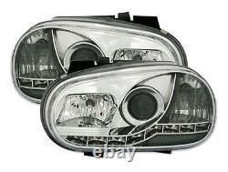 2 Lights Headlight Before Devil Eyes Led To A Vw Golf 4 Gti Tdi A Fond Chrome