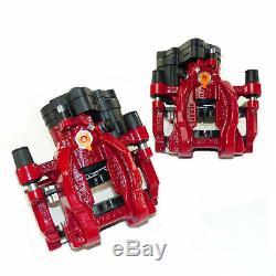 2x Caliper Rear Red 310mm Brake Vw Golf 7 Gti R Audi A3 8v S3 Rs3 Tts (b)