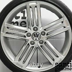 4 Alloy Wheels Volkswagen Golf 6 Gti R Original 8 X 19 Chrome 5k0601025m