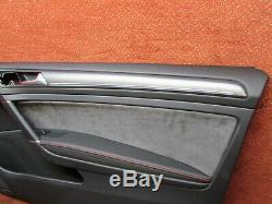 5g3867012em Door Trim Right Before Alcantara Black / Red Vw Golf Gti 7 2 /