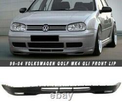 99-04 Vw Golf Ring Volkswagen Mk4 Gti Gl Front Splitter Spoiler Plastic Uk