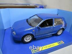 Ar657 Revell 1/18 Vw Volkswagen Golf Gti Bleue Ref 08862 Very Good State