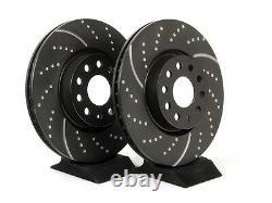 Brake Discs Avant Grooved / Drilled Ebc 312 For Volkswagen Golf 6 Gti