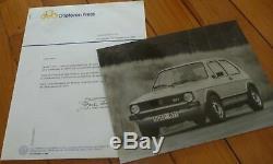Brochure Press Kit Folder Photo 1975 Vw Golf Gti Prospekt Catalog Leaflet