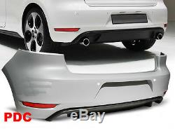 Bumper Rear, Spoiler, Diffuser Vw Golf 6 Gti Style Twin Pdc