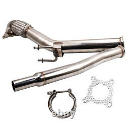 Exhaust V-band Downpipe 3 Decat For Vw Golf 5 6 Scirocco Volkswagen 2.0 Gti