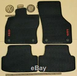 Floor Mat Front And Rear X4 Vw Golf Gti VII 7 Mk7 Original 5gv061550041