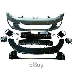 Front Bumper Volkswagen Golf 6 Gti Look 08 To 12 With Pdc