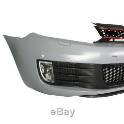Front Bumper Vw Vw Golf VI 6 (2008-2013) Gti Look Kitt Fbvwg6gtipdc