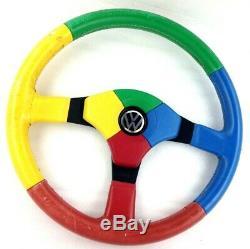 Genuine Leather Steering Momo Benetton, Harlequin Vw Polo Gti Golf Etc 7d