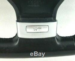 Genuine Vw Golf R32 Black Leather Steering Wheel Passat Polo Etc. Gti 3e