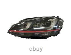 Headlight Before Xenon Right For Volkswagen Golf VII Gti Since 2012 Black To Led