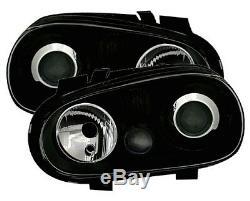 Headlights Front Lights Vw Volkswagen Golf 4 Gti Sdi Tdi 90 Smooth Ice Black Look R32