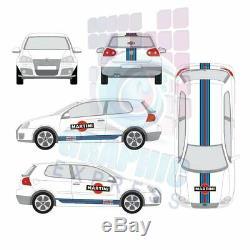 Kit Martini Racing Volkswagen Golf 5 Sticker Decal Stickers Racing Gti Mk5