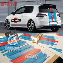 Kit Racing Golf Gti Mk 7 6 5 Decal Stickers Volkswagen Le Mans