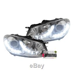 Led Headlights With Lights Day Daytime Look Pack For Vw Gti Volkswagen Golf June 03