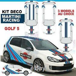 Martini Racing Kit Golf Gti Mk5 5 Sticker Decal Sticker Volkswagen