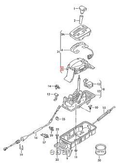 Nine Genuine Vw Golf Gti R32 Bora Tiptronic Down Right Guide 1j07135982zz Oem