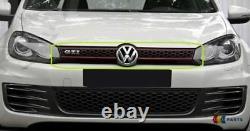 Nine Real Vw Golf Mk6 Gti 08-13 Front Bumper Center Grille