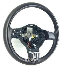 Origin Vw Polo 6r Black Leather Steering 6r0419091f. Mk5. 19d