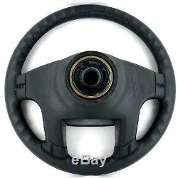 Original Vw Black Leather Steering Wheel Golf Gti Mk2 Corrado 16v Etc. 16b