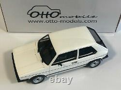 Ottomobile Ot562 Volkswagen Golf 1 Gti Rabbit White 1/18 Otto Car Miniature