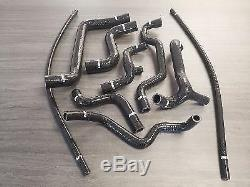 Reinforced Silicone Hoses For Volkswagen Golf 3 Gti 8s Black
