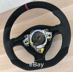 Tuning Exchange Flattened Leather Steering Vw Golf 4 Bora Passat 3b Gti Red Ring