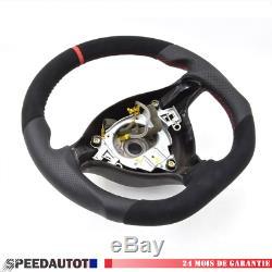 Tuning Flattened Leather Steering Vw Golf 4, Passat 3b, Bora, Gti Red Ring 2w