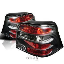 Volkswagen 99-06 Golf Gti R32 Black Rear Hose Brake Lights Mk4 Gl Gls Tdi