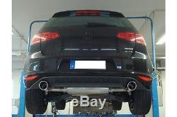 Volkswagen Golf 7 Gti Fox Split Exhaust Muffler 1x100