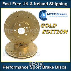 Volkswagen Golf Gti 1.8t 180bhp 02-04 Rear Brake Discs Perforated Gold Grooved