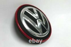 Volkswagen Golf Mk7 Gti R Gtd Red Chrome Wheel Central Cap 4x Set
