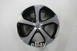 Vw Golf 7 Gti Einzelfelge 17'inch Alloy Rim Brooklyn 5g0601025bg