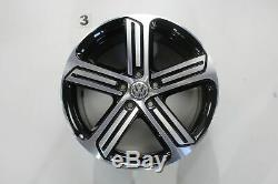 Vw Golf 7 Gti Gtd R Rims 18 Inch Rims Cadiz Black Rims Set
