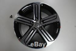 Vw Golf 7 R-line Gti Alloy Rims 18 Inches Cadiz Black 5g0601025dq Set