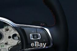 Vw Golf Gti 7 5g Sports Leather Steering Flattened Multifunction Teeter 5g0419091br