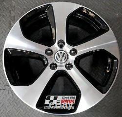 Vw Golf Mk7 Gti 1x 18 Original Austin Black Brown Alloy Wheel S147dc