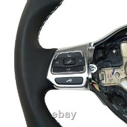 Vw Golf VI R Line Sirocco III Flying Sport Flat Mfa Leather Perforated Black