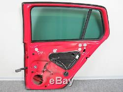 Vw Golf VII 7 Gti Gtd 4-türer Rear Door Right Side Window Red