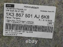 1K3867501AJ Toit Intérieur VOLKSWAGEN Golf V Berlina (1k1) Gti Bj 2003 1331693