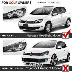2010-2014 Volkswagen Mk6 Gti Golf Sportwagon Oled Tube Néon Rouge Phares Paire