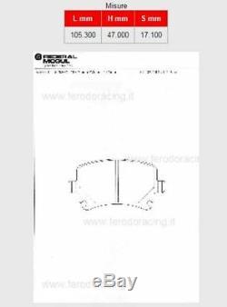 444A-FCP1636H FERODO RACING SPORTBREMSBELAG DS2500 VOLKSWAGEN Golf (5) 2.0 GTI