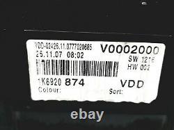Bloc Compteurs Vitesse VW Golf MK5 GTI 1K6920874 110080340008 VDO
