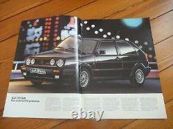 Brochure 1990 VW GOLF GTI G60 16S EDITION ONE Prospekt Dépliant Prospectus