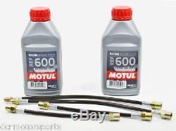 Durites flexibles Goodridge Volkswagen Golf Mk3 GTI/VR6 91-96 + 2 Motul RBF 600