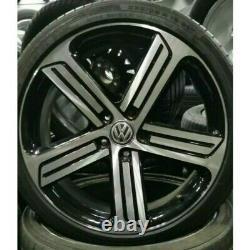 Jantes ORIGINAL Volkswagen + PNEUS Golf R GTI Cadiz 19 pouces 5G0601025AH VW