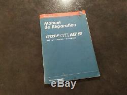 Manuel d'atelier VAG Service Golf GTI 16S Oettinger Reparaturleitfaden V. A. G