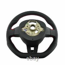 Mfa Volant Sport Aplati Cuir Perforé Multifonction VW Golf 6 VI Gti Noir